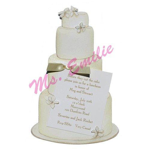 Wedding Cake Die-Cut Card, Pack Of 10 front-653085