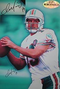 Dan Marino Hand Signed 20 x 30 Miami Dolphins Canvas Print by VIP Memorabilia