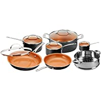 12-Piece Gotham Steel 1471 Kitchen Nonstick Frying Pan and Cookware Set