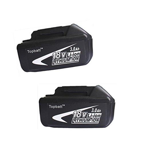 Topbatt 2packs Makita 18v 3.0ah Li-Ion Replacement Battery B