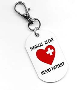 Medical Alert HEART PATIENT 1 x 2 inch Aluminum Dog Tag by Creative Clam