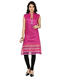 Shagun Creation Pink Self Design Kurti-42-For Women, Girls