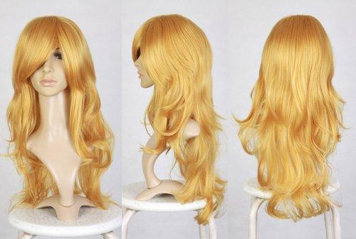 Cosplayland C369 - 70CM Wave long Heat-Resistant Fairy like real Hair Wig - Blonde