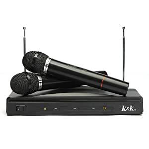 buy dual cordless wireless mic microphone with receiver online at low prices in india. Black Bedroom Furniture Sets. Home Design Ideas