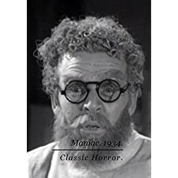 Maniac. Horror Film. 1934. DVD.