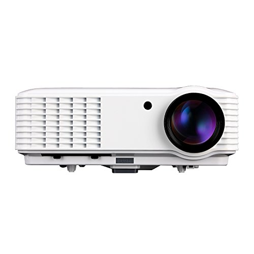 EUG 3500 Lumens 1080p LED HD 3D Ready Home Office Projector 1280 x 800 For Home Theater Gaming Business & Education HDMI Cable Portable