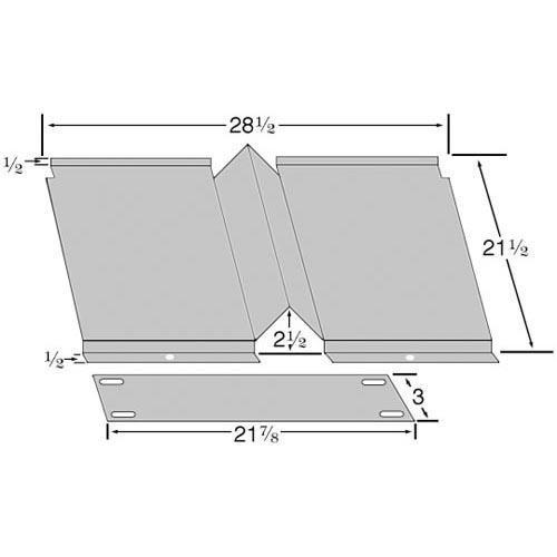 Blodgett 17861 Deflector Oven Bottom 28 1/2