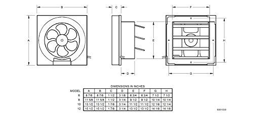 Professional Grade Products 9800394 Shutter Exhaust Fan ...