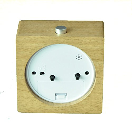 Ecvision Handmade Alarm Clock Classic Small Square Silent