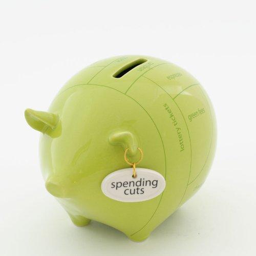 Enesco Money Talks - Spending Cuts Piggy Bank