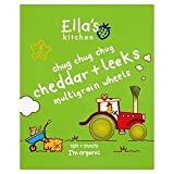 Ella's Kitchen Cheddar & Leeks Multigrain Wheels 4 x 15g