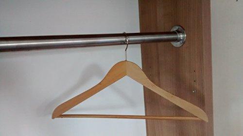 150-cm-Premium-Edelstahl-Kleiderstange-Edelstahl-V2A-D-337-mm-hochwertige-Oberflche-Set-fr-Garderobe-Kleiderschrank-oder-Nische-LIVINDO