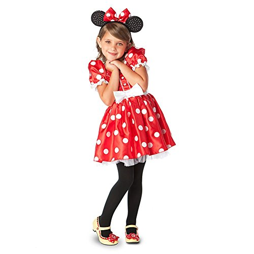 Disney Store Minnie Mouse Halloween Costume Size Medium 7/8 - Red/Polka Dot