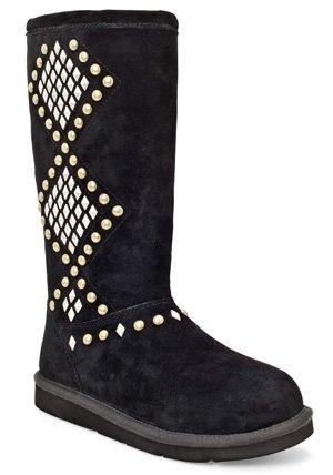 UGG Women's Avondale Boot (8, Black)