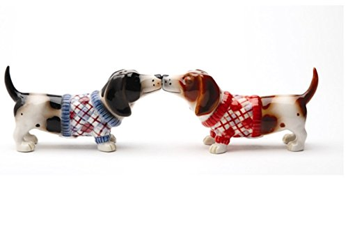 Pacific Trading Kissing Basset Hounds in Sweater