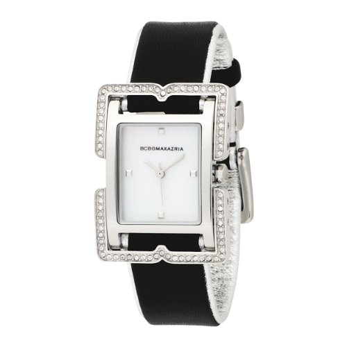 BCBGMAXAZRIA Ladies Watch BG6240 with Black Leather Strap