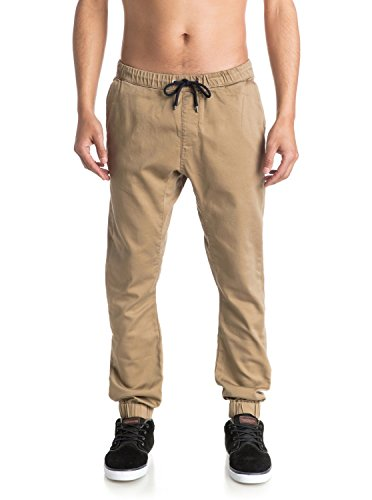 Quiksilver Fonic, Pantaloni Sportivi Uomo, Beige (Elmwood Tmp0), W38