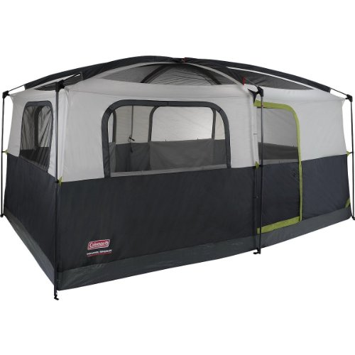 Coleman Prairie Breeze 9-Person Cabin Tent, Black and Grey Finish (Coleman Breeze compare prices)