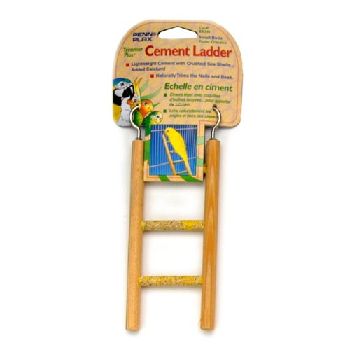 Penn Plax Small Step Wood and Cement Bird Ladder,