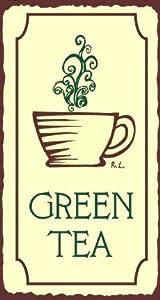 Green Tea Vintage Metal Art Coffee Shop Diner Retro Tin Sign