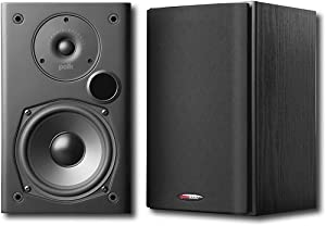Polk Audio T15 Bookshelf Speakers, Pair, Black
