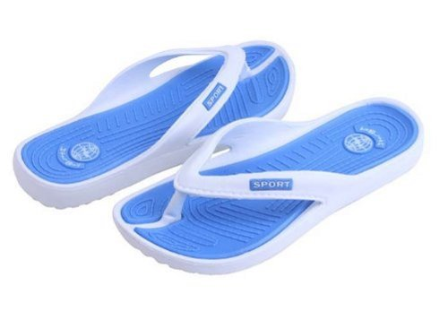 Sunville Womens 2518-2 Flip Flops,Blue,6 back-789392
