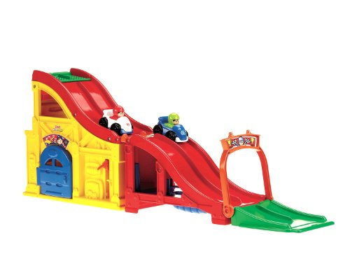 Fisher-Price Little People Wheelies Rev and Sounds Race Track Playset