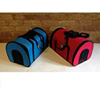 New PET CARRY BAG Dog Cat Pet Carrier Soft Cosy Travel Carry Bag top panel (red)