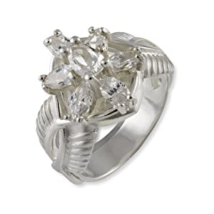 Lord of the Rings Sterling Silver Ring Arwen - Size K