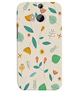 PrintVisa Corporate Print & Pattern Modern Art Floral 3D Hard Polycarbonate Designer Back Case Cover for HTC One M8