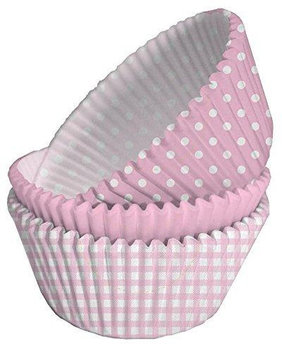 150 x rosa, cuadros y lunares casos de la torta