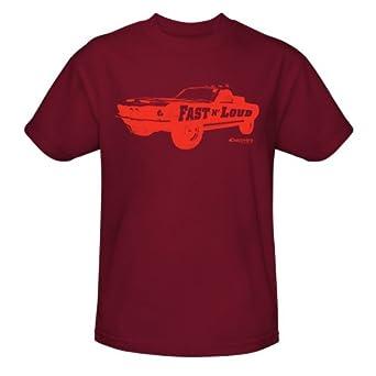 Fast N' Loud Unisex Car Logo T-Shirt Red Small
