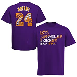 Kobe Bryant Los Angeles Lakers Purple United Name and Number T-shirt by adidas