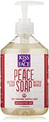Kiss My Face Peace Soap All Purpose Castile Soap Pomegranate