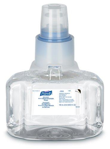 PURELL 1305-03 Advanced Instant Hand Sanitizer Foam, 700 mL LTX-7 Refill (Pack of 3)
