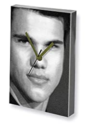 TAYLOR LAUTNER - Canvas Clock (LARGE A3 - Signed by the Artist) #js005