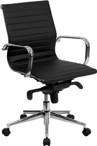 mid-back-black-ribbed-upholstered-leather-swivel-conference-chair
