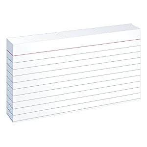Oxford Ruled Index Cards, 3 x 5 Inches, White, 100 Cards per Pack (31)
