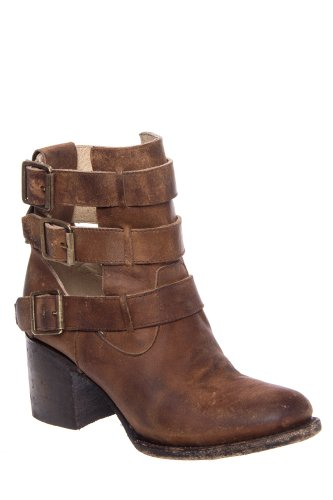 Freebird by Steven Rolling Chunky High Heel Multi Ankle Strap Bootie