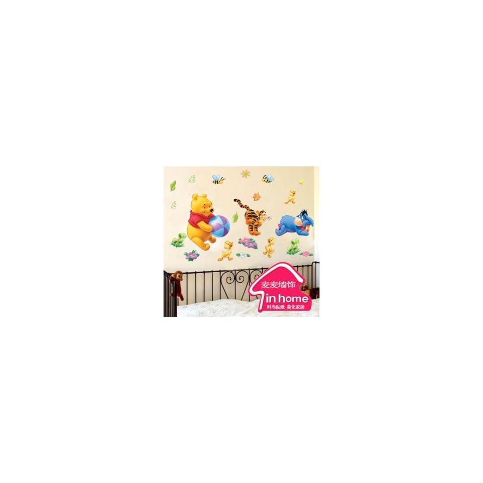 Winnie the pooh and tiger   Loft 520 Kids Nursery Home Decor Vinyl Mural Art Wall Paper Stickers
