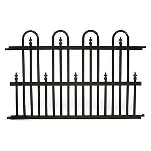 Specrail Roxbury ROXBURY24SP Aluminum Garden Fence Standard Panel, 24 by 36-Inch, Black
