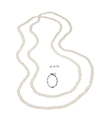 Freshwater Cultured White Pearl 80