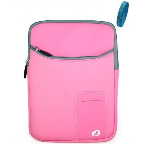 Dell Inspiron Pink Neoprene Sleeve Carry Case for Dell Inspiron Mini IM10 2863 10 Inch Netbook + Bonus Wristband
