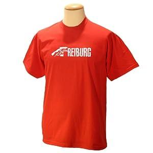 """Deine Stadt """"FREIBURG"""" !!! WIR HABEN JEDE STADT !!! Designer T-Shirt Wizuals ROT"""