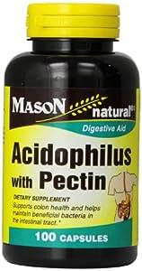 Mason Vitamins Acidophilus with Pectin,  Capsules, 100-Count Bottles (Pack of 3)