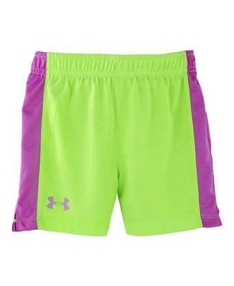Amazon.com: Under Armour Little Girls' Pin Hole Mesh Shorts ...