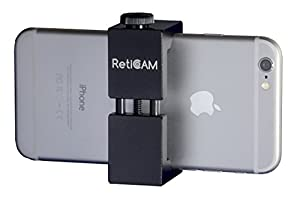 RetiCAM® Smartphone Tripod Mount - Metal Universal Smartphone Tripod Adapter - Standard Size, Black
