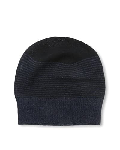 Cullen Men's Merino Knit Beanie, Night Marl/Black