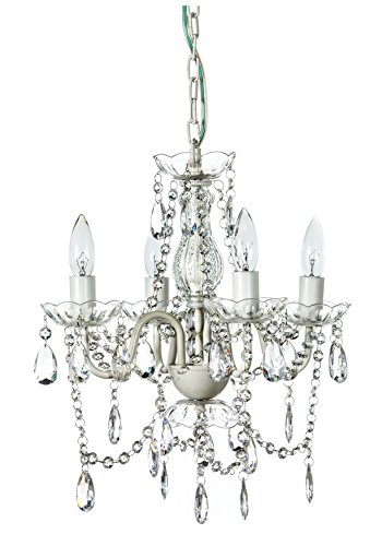 Gypsy color 4 arm crystal white small acrylic crystal - Small bathroom chandelier crystal ...