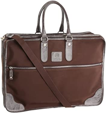 02-5237 Microfiber Brief Case (L): Brown